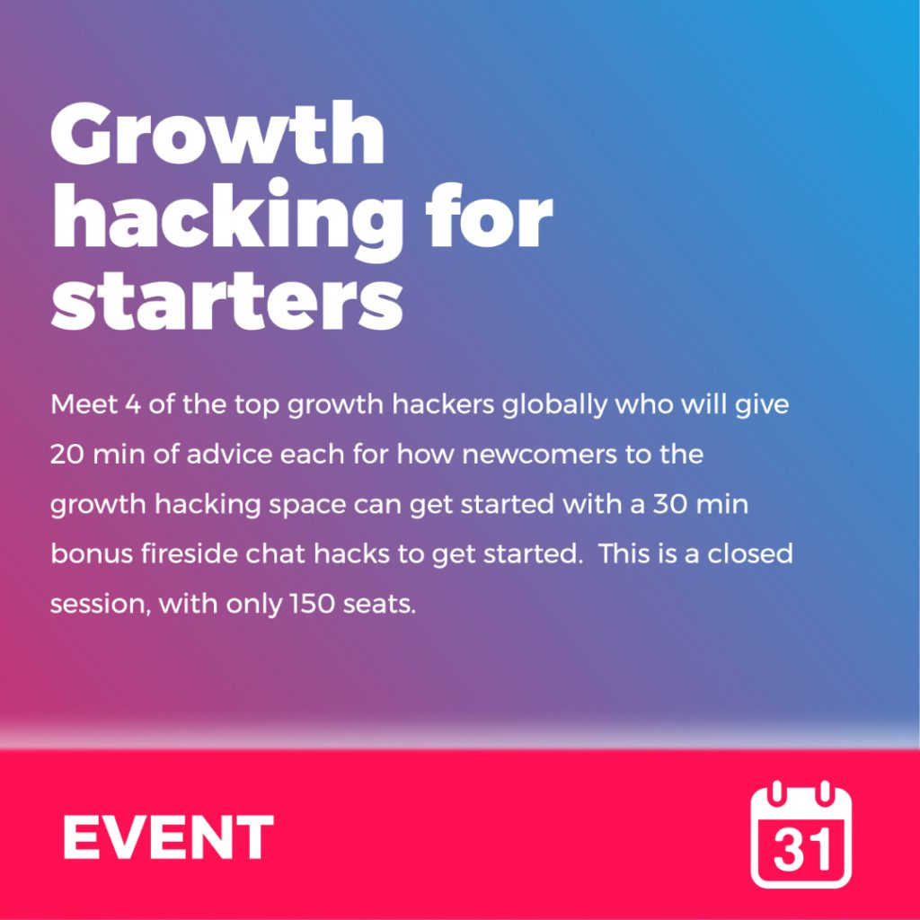 Event - Growth hacking for starters