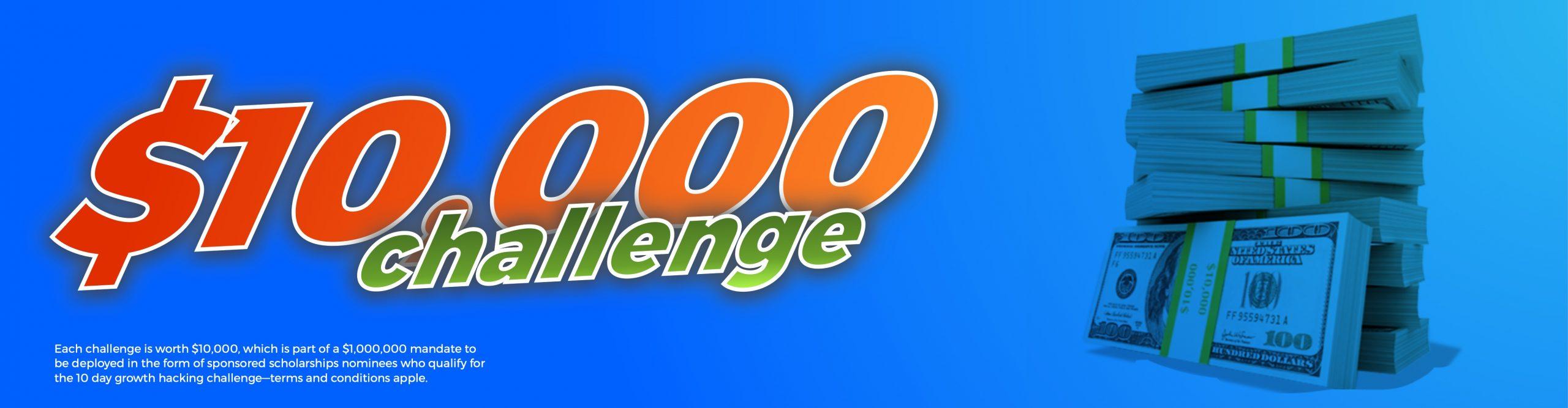 10,000 challenge banner